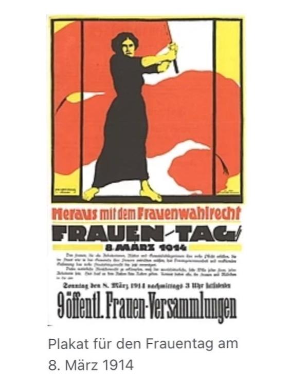 Plakat Weltfrauentag 1914
