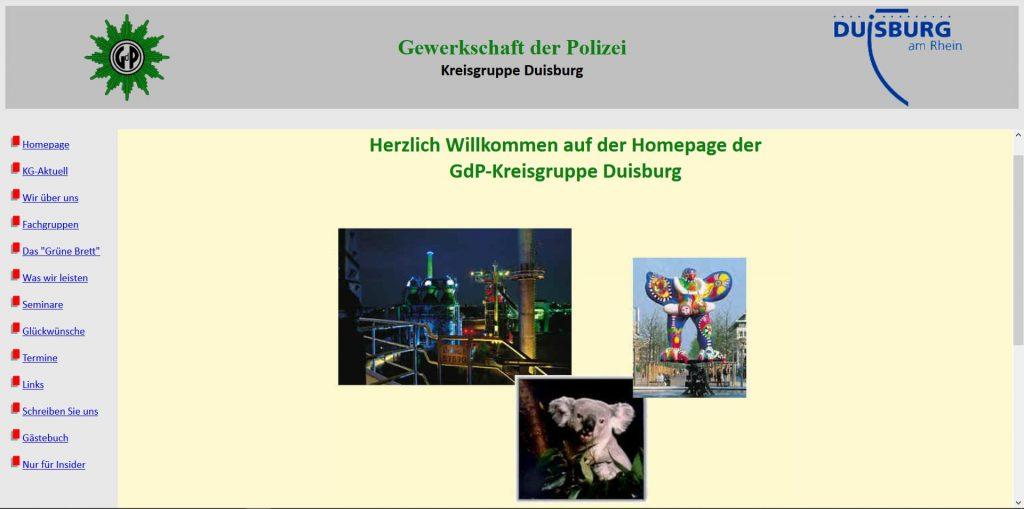 GdP Duisburg Startseite 2001