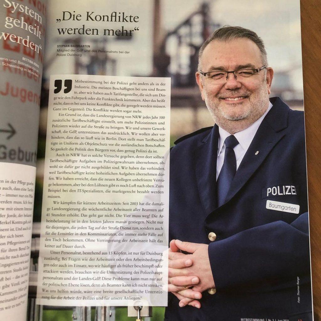 """Stephan Baumgarten im Magazin """"Mitbestimmung"""""""