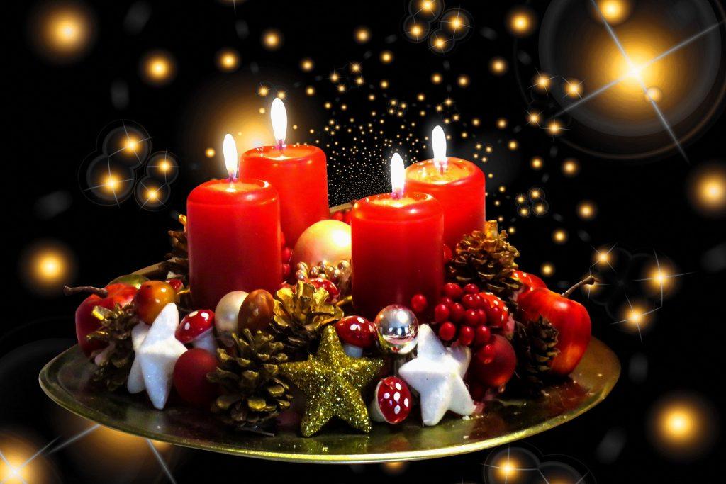 Weihnachtsbild Kerzen